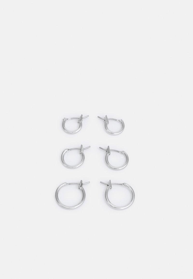 Weekday - MID HOOP 3 PACK - Earrings - silver-coloured