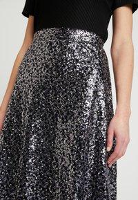 ONLY - ONLVIVA SKIRT - A-line skirt - black/silver - 4