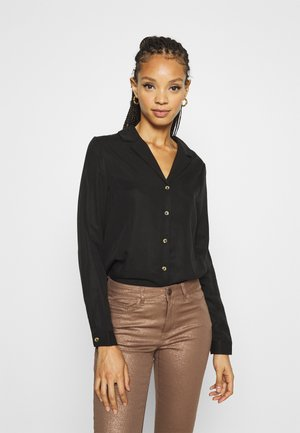 OBJTILDA RORY - Button-down blouse - black