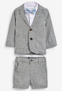 Next - GREY BLAZER, SHIRT & SHORT SET (3MTHS-7YRS) - Blazer jacket - grey - 0