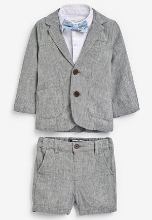 GREY BLAZER, SHIRT & SHORT SET (3MTHS-7YRS) - Americana - grey