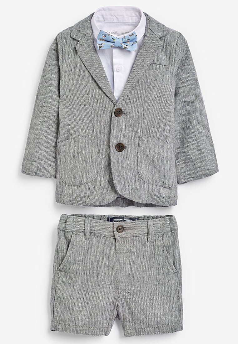 Next - GREY BLAZER, SHIRT & SHORT SET (3MTHS-7YRS) - Giacca - grey