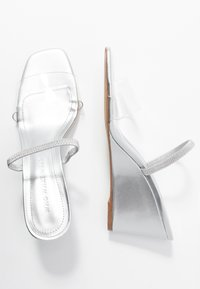 Who What Wear - THALIA - Heeled mules - silver - 3