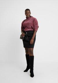 Glamorous Curve - RING PULL SKIRT - Mini skirt - black - 1