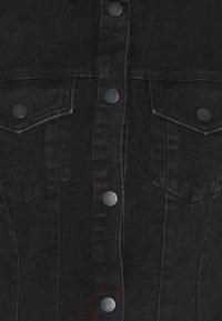 Vero Moda - VMAVIIS STITCH DRESS - Denimové šaty - black - 2