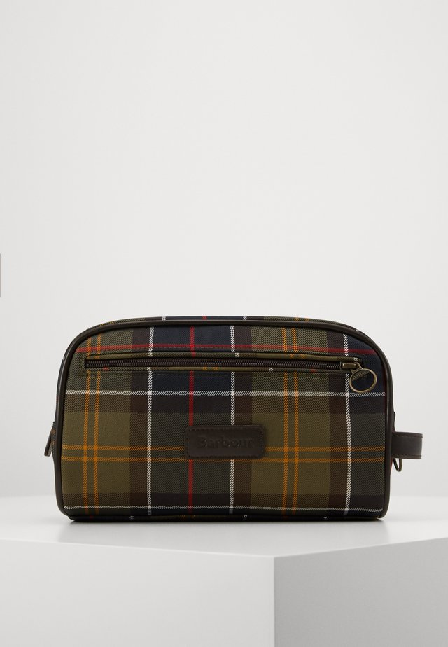 TARTAN WASHBAG - Wash bag - multicolor/green