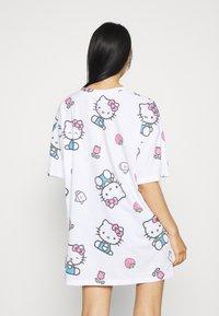 NEW girl ORDER - HELLO TEE DRESS - Vestito di maglina - white - 2