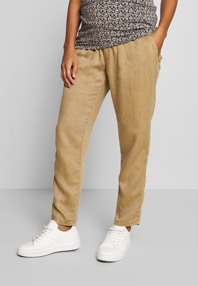 PANTS LINNEN TOUCH - Pantalones - clay