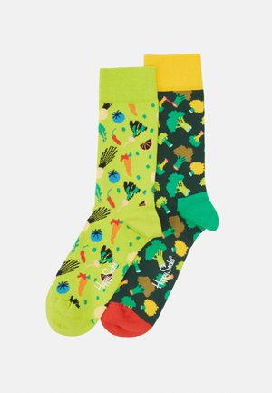 VEGGIE BROCCOLI 2 PACK - Socks - medium green