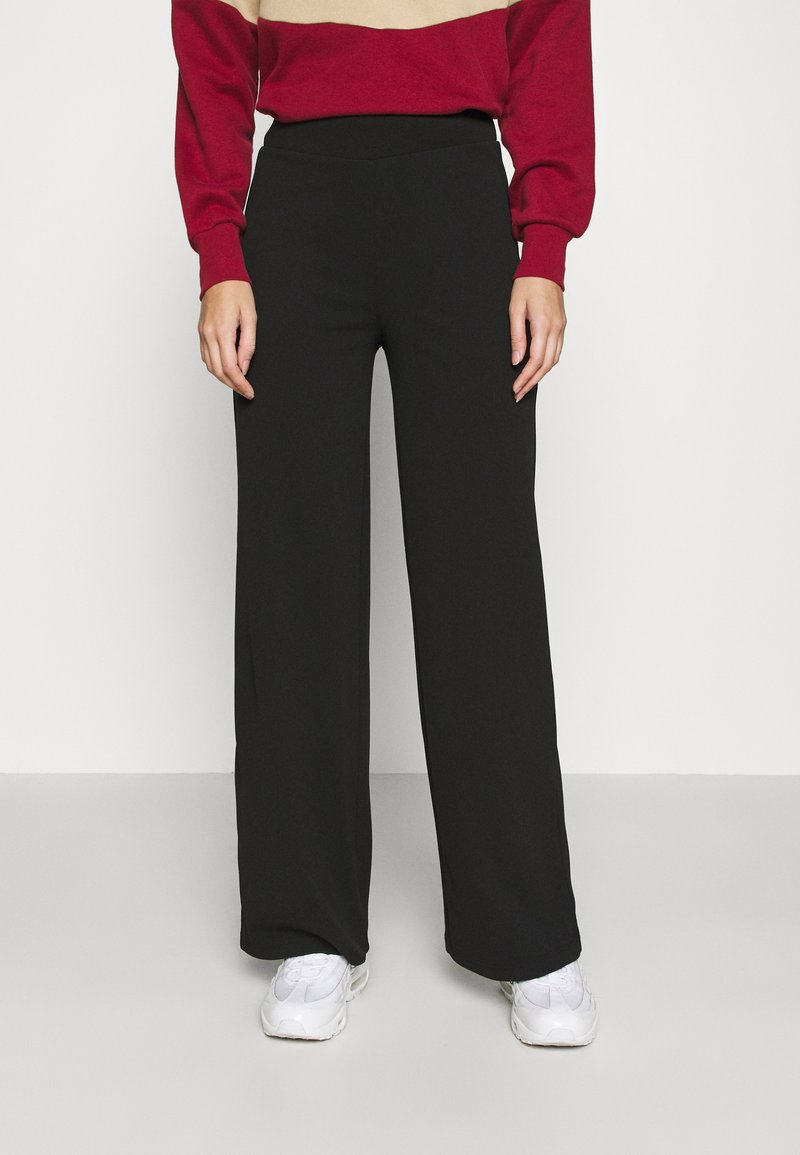 ONLY - ONYCOCO ROCKY WIDE PANT  - Trousers - black
