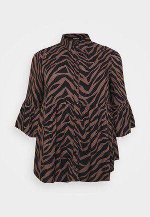 SMOCK - Button-down blouse - brown