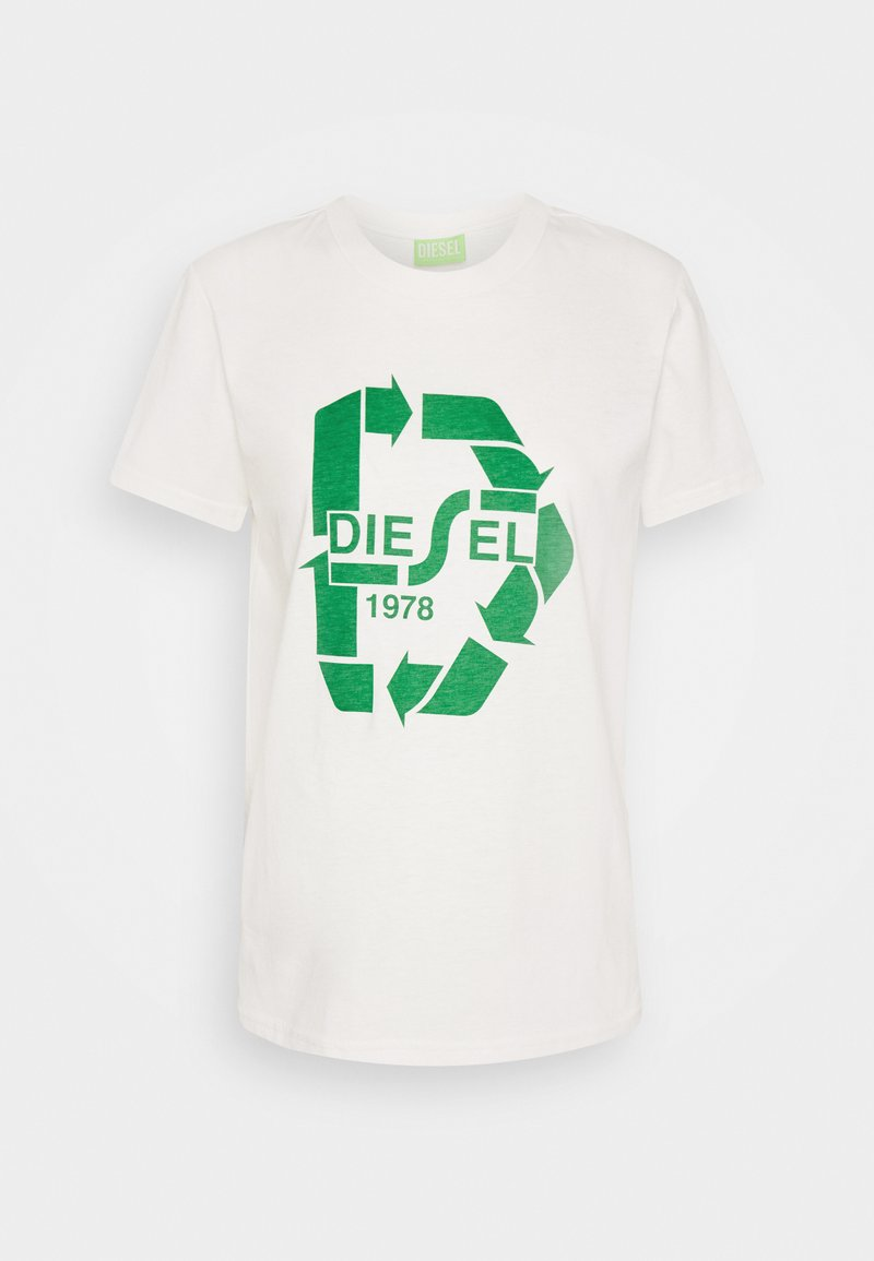 Diesel - T-SILY-V32 T-SHIRT - Print T-shirt - offwhite