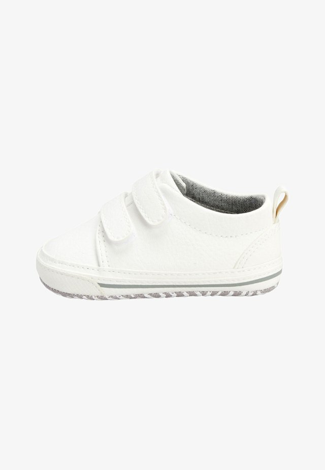 NAVY TWO STRAP PRAM SHOES  - Sneakers laag - white
