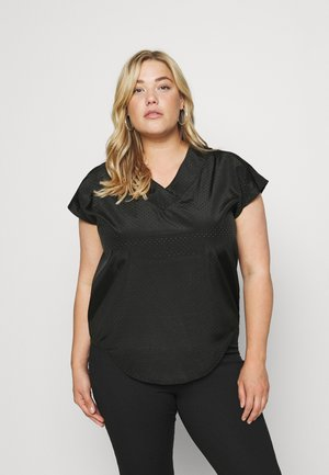 CARCARLY IN ONE V NECK - Print T-shirt - black