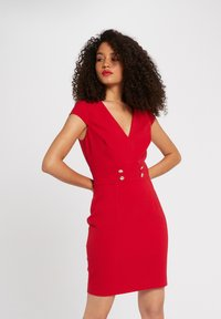 Morgan - WITH DECORATIVE BUTTONS - Shift dress - red - 0
