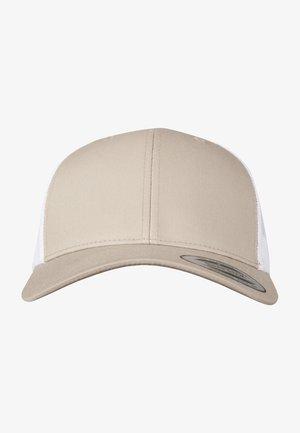 TRUCKER  - Cap - khaki/white
