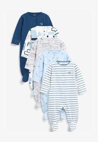 Next - 5 PACK PRINTED  - Sleep suit - blue - 0
