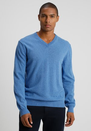 BASIC V NECK - Jersey de punto - blue