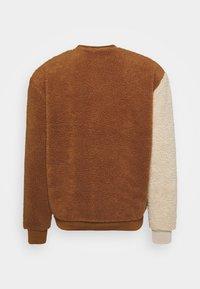 Karl Kani - TEDDY BLOCK CREW - Sweatshirt - brown - 1
