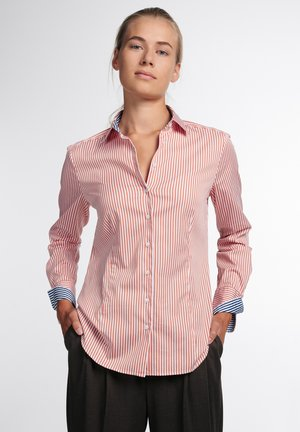 LANGARM MODERN CLASSIC - Button-down blouse - rot