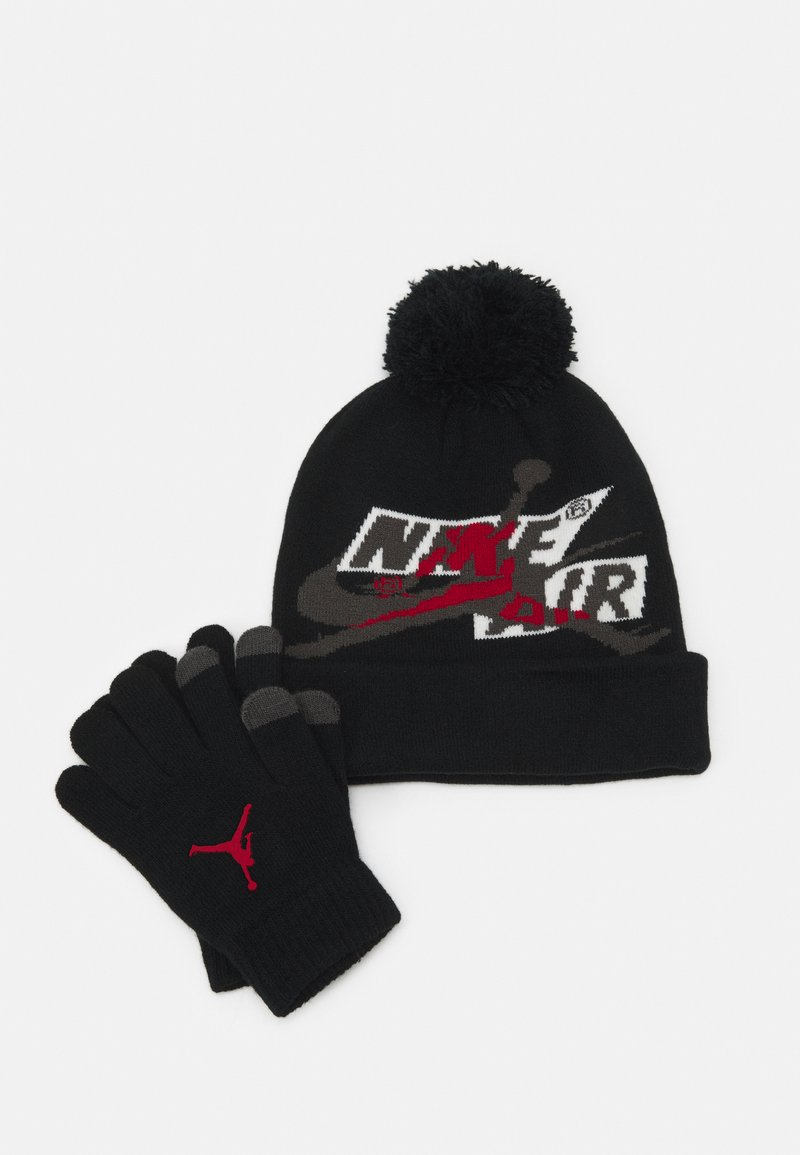 Jordan - JUMPMAN CLASSICS POM BEANIE SET - Rukavice - black/gym red