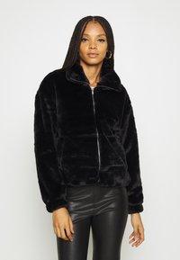 New Look - THEO FUNNEL NECK  - Light jacket - black - 0