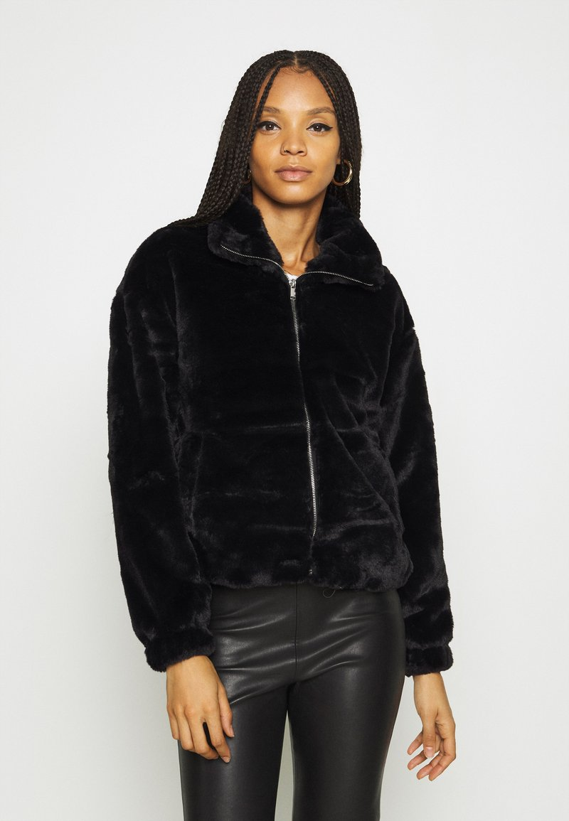 New Look - THEO FUNNEL NECK  - Light jacket - black