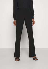 ONLY - ONLELORA ELLY LIFE FLARE PANT - Trousers - black - 0