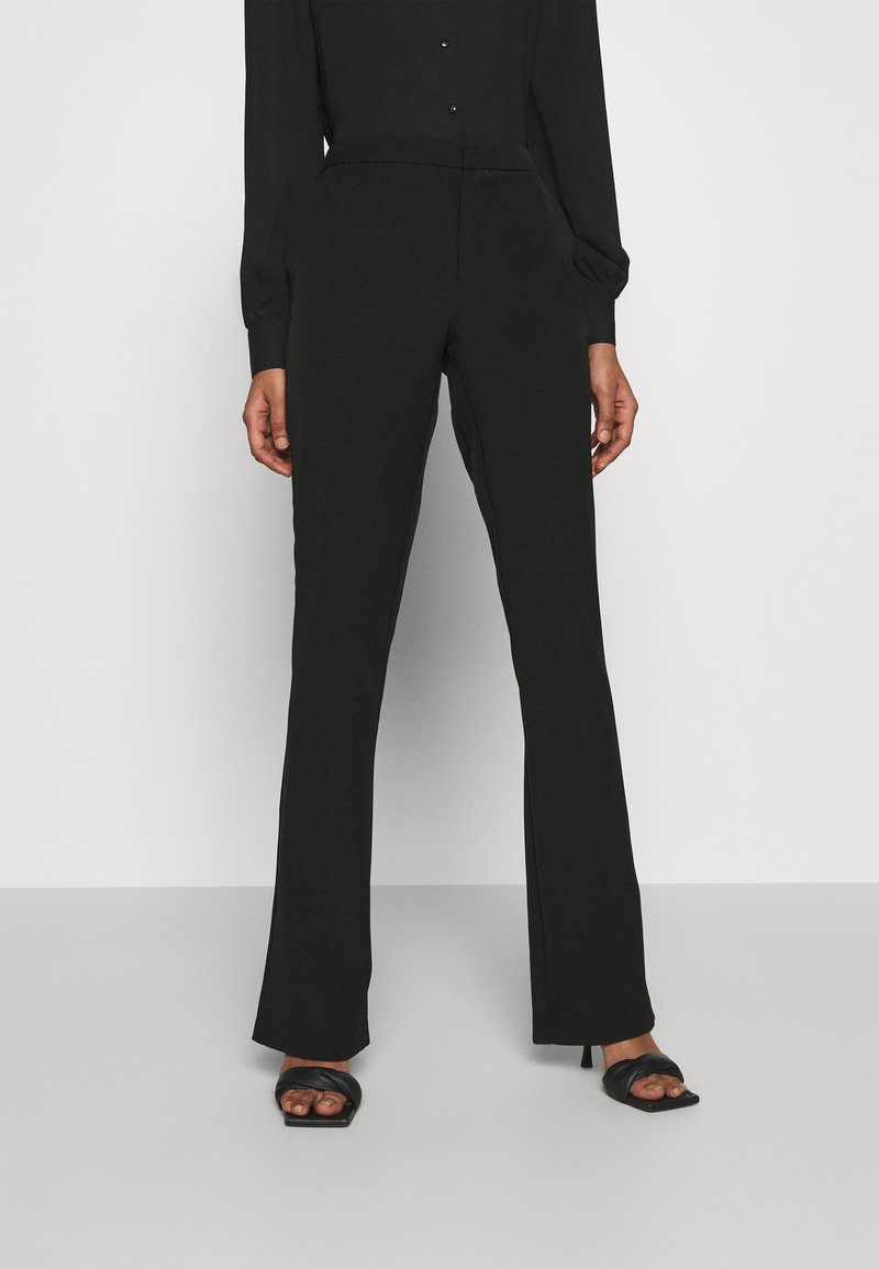 ONLY - ONLELORA ELLY LIFE FLARE PANT - Trousers - black