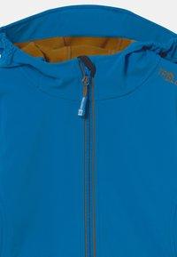 TrollKids - TROLLFJORD UNISEX - Softshellová bunda - azure blue/bronze - 3