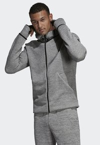 adidas Performance - adidas Z.N.E. Fast Release Hoodie - Fleecejas - grey - 0