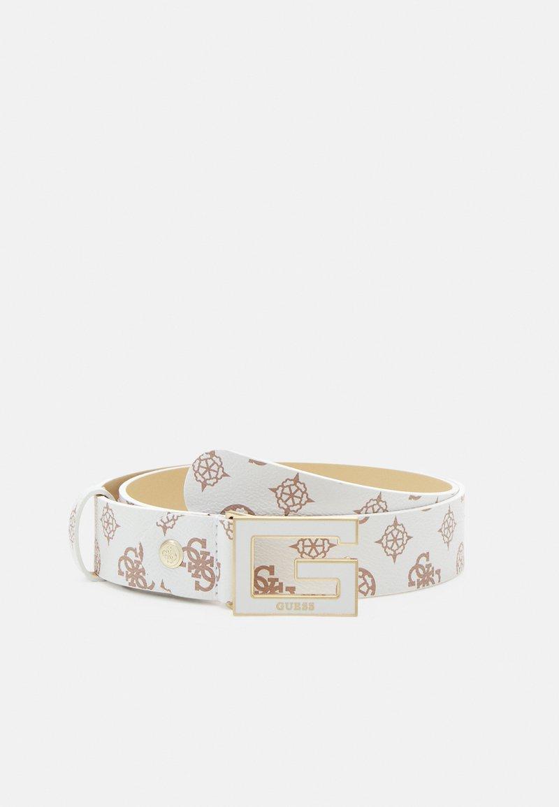 Guess - BRIGHTSIDE ADJUSTBLE PANT BELT - Belt - white