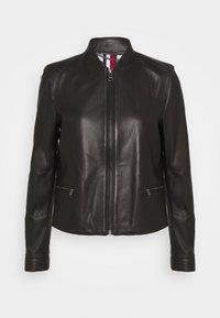 Tommy Hilfiger - VARSITY - Leather jacket - black - 0