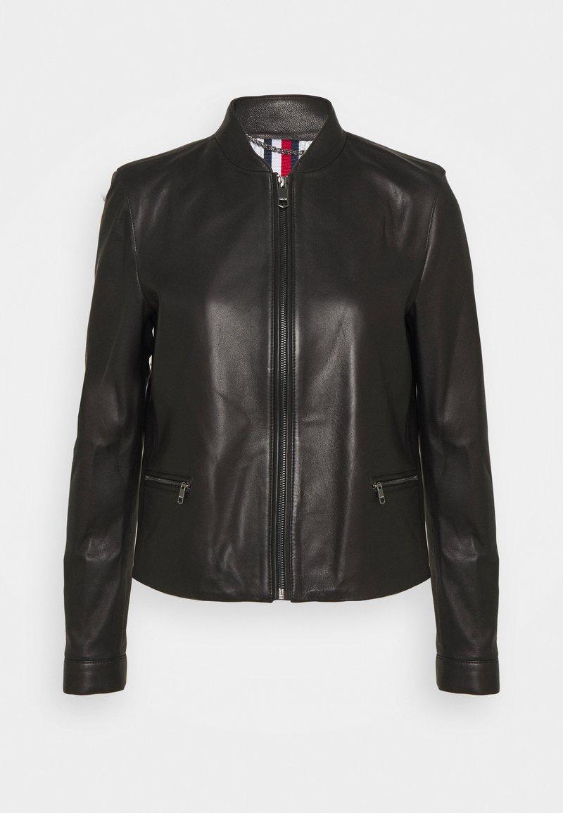 Tommy Hilfiger - VARSITY - Leather jacket - black