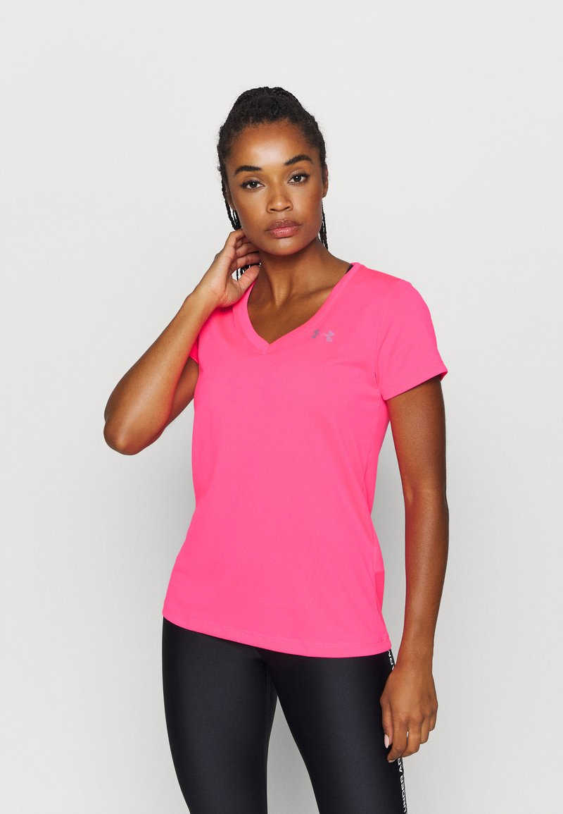 Under Armour - TECH - Jednoduché triko - cerise