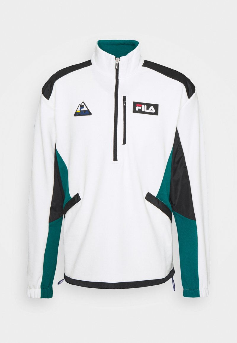 Fila - CLEM HALF-ZIP SHIRT - Sweatshirt - blanc de blanc/black storm
