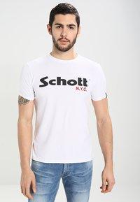 Schott - LOGO 2 PACK - Print T-shirt - black/white - 1