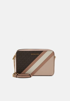 JET CROSSBODY COLOUR BLOCK - Across body bag - brown/softpink