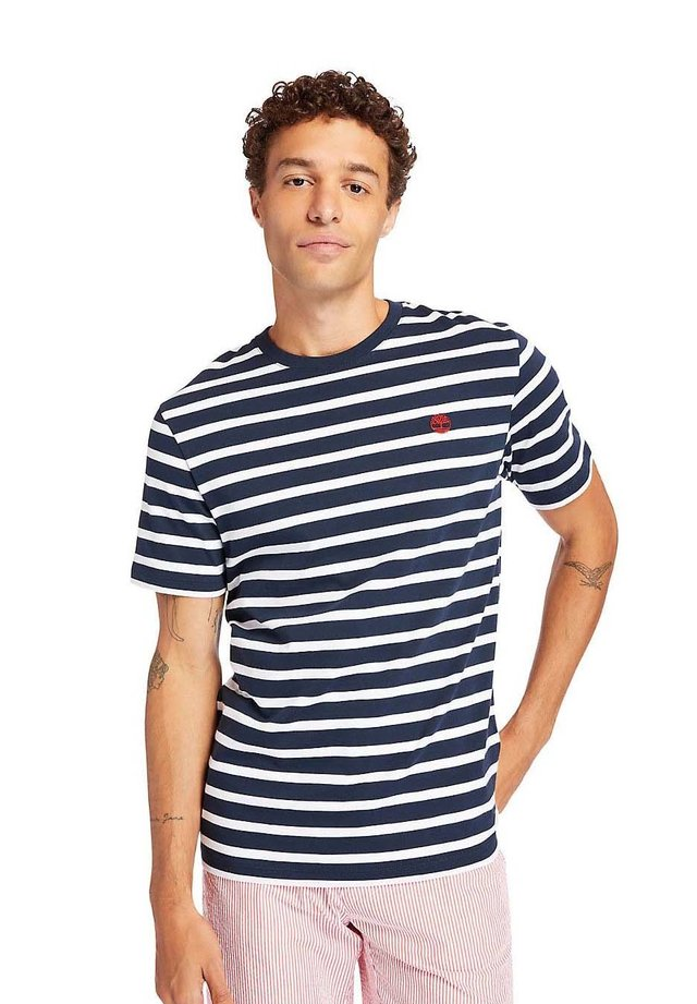 ZEALAND RIVER STRIPE - T-shirt imprimé - dark sapphire yd