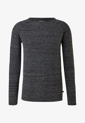 RAGLAN CHINÉ - Pullover - dark grey