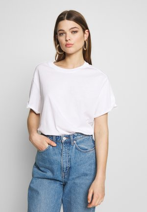 LASH LOOSE - Basic T-shirt - white