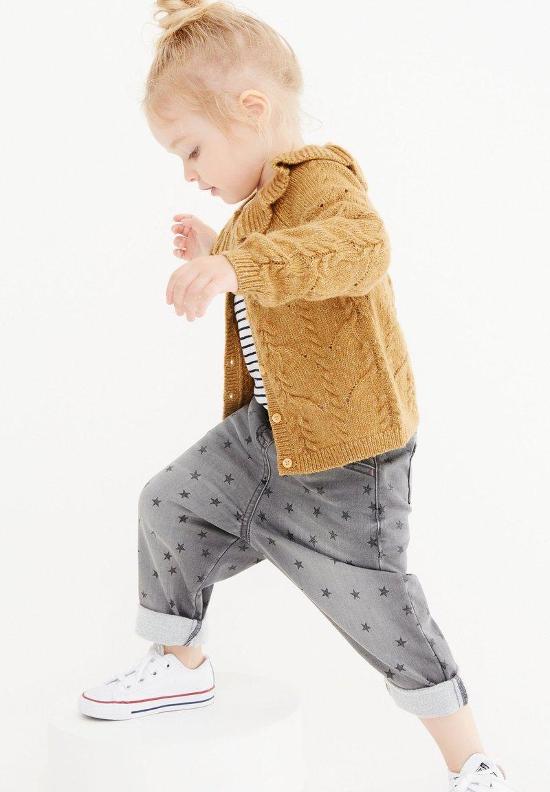 Next - POINTELLE DETAIL COLLAR - Cardigan - ochre