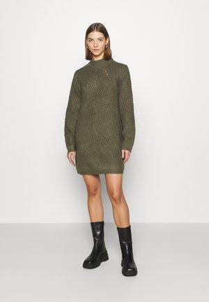 NMEDEN HIGH NECK DRESS  - Jumper dress - kalamata