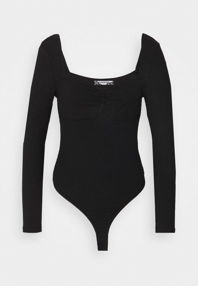SWEETHEART NECKLINE  - Print T-shirt - black