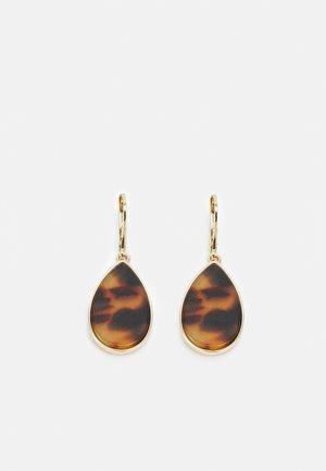 TEARDROP - Earrings - gold-coloured/tort