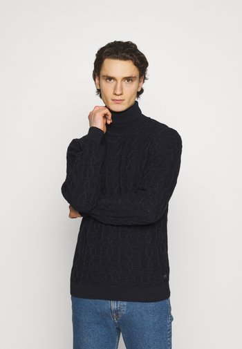 CABLE - Stickad tröja - black