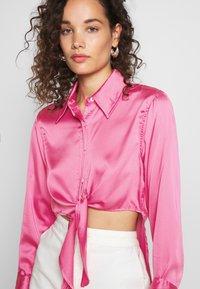 Who What Wear - KNOT  - Button-down blouse - sherbet - 4