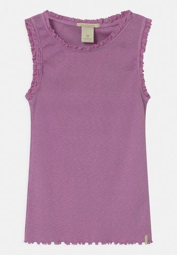 BASIC WITH LACE EDGES - Top - lavender