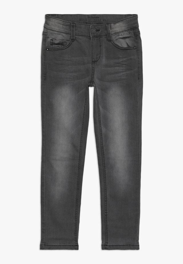 Slim fit jeans - grey/black denim