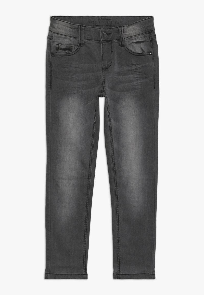 s.Oliver - Slim fit jeans - grey/black denim